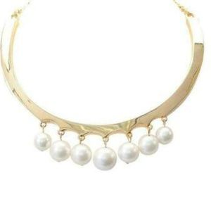 Kenneth Jay Lane Faux Pearl Collar Necklace #1